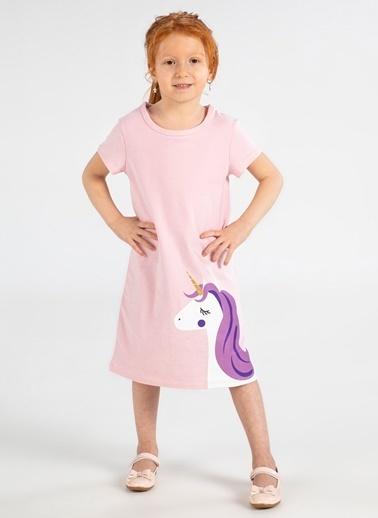 Lupiakids Unicorn Pembe Kız Elbise Renkli